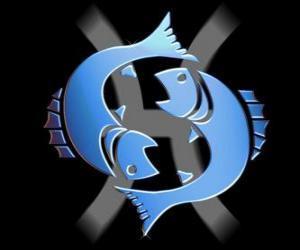 Puzle Ryby. Dvanácté znamení zvěrokruhu. Latinský název je Pisces