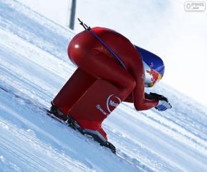 Puzle Rychlost lyžování