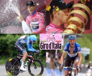 Puzle Ryder Hesjedal, vítěz Giro Itálie 2012