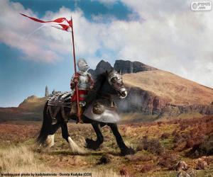 Puzle Rytíř na koni