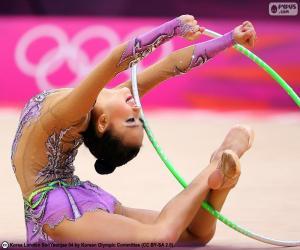 Puzle Rytmická gymnastika s obruč