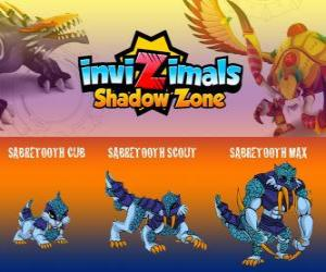 Puzle Sabretooth Cub, Sabretooth Scout, Sabretooth Max. Invizimals Shadow Zone. Strážce parku, který touží stát se superhrdiny