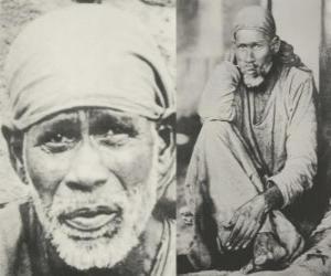 Puzle Sai Baba o Shirdi, indický guru, jogín a fakír, který je považován jeho následovníci jako svatý