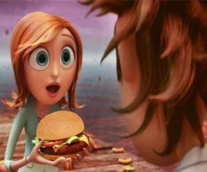 Puzle Sam Flint překvapil učí hamburger