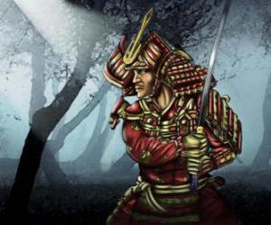 Puzle Samurai s tradičními šaty