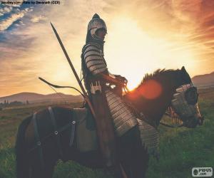 Puzle Samuraje na koni
