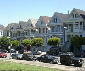 Puzle San Francisco viktoriánské domy