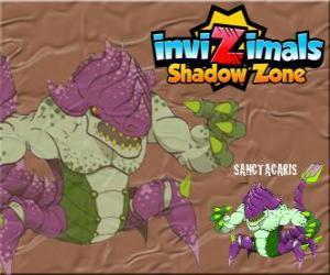 Puzle Sanctacaris. Invizimals Shadow Zone. První dinosaurus, který používá jeho ruce k boji