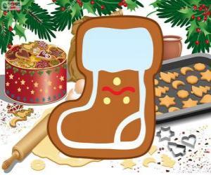 Puzle Santa Claus bota biscuit