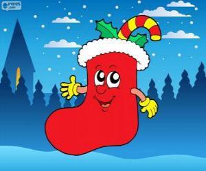 Puzle Santa Claus bota