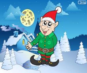 Puzle Santa Claus elf