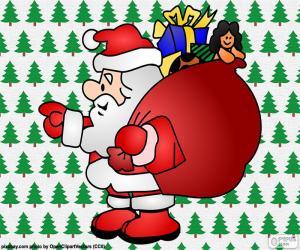 Puzle Santa Claus, kreslení