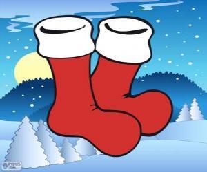 Puzle Santa Claus ponožky