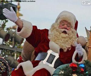 Puzle Santa Claus s úsměvem pozdraví děti