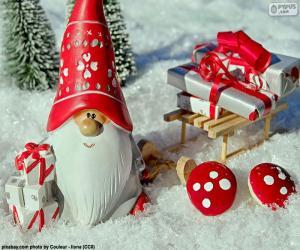 Puzle Santa Claus, vánoční ozdoba
