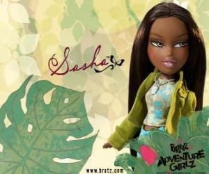 Puzle Sasha - Bunny Boo - Bratz je první African American. Jeho prostřední jméno je Edith, je narcismus, ale to je normální (pro ni).