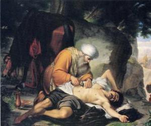 Puzle Scéna z Podobenství Samaritán