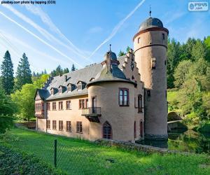 Puzle Schloss Mespelbrunn, Německo