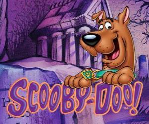 Puzle Scooby Doo s logem