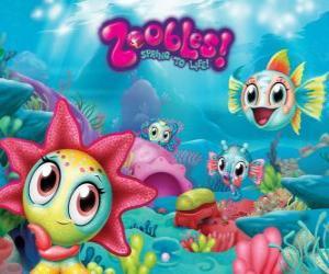 Puzle Seagonia, moře Zoobles