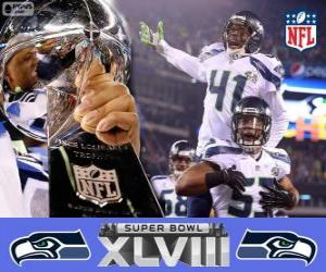 Puzle Seattle Seahawks, Super Bowl 2014 Mistrů