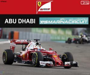 Puzle Sebastian Vettel, 2016 Abu Dhabi GP