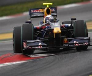 Puzle Sebastian Vettel pilotování svého F1