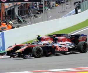 Puzle Sebastien Buemi, Jaime Alguersuari - Toro Rosso - Spa-Francorchamps 2010