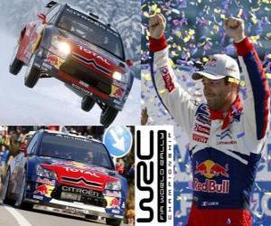 Puzle Sebastien Loeb (Citroen), šampion WRC 2010
