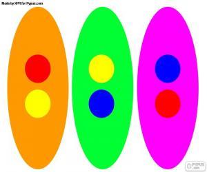 Puzle Sekundární barvy