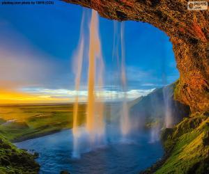 Puzle Seljalandsfoss, Island