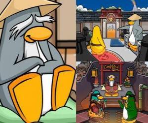 Puzle Sensei je velmi moudrý tučňáka žijící v Dojo a učí je být ninja tučňáky