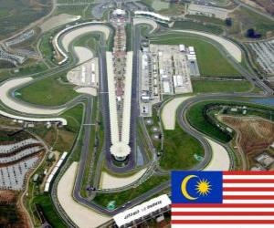 Puzle Sepang International Circuit - Malajsie -