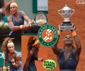 Puzle Serena Williamsová vítěz Roland Garros 2013