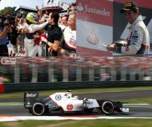 Puzle Sergio Pérez - Sauber - Grand Prix Itálie 2012, 2 nd klasifikované