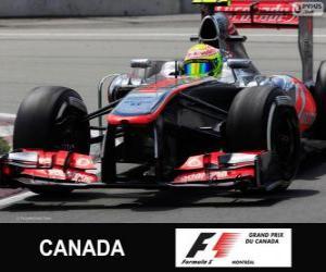 Puzle Sergio Perez - McLaren - okruh Gilles Villeneuve, Montreal, 2013