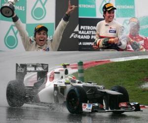 Puzle Sergio Perez - Sauber - Grand Prix Malajsie (2012) (2. místo)