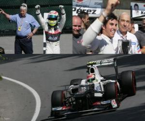 Puzle Sergio Perez - Sauber - Grand Prize of Canada (2012) (3. místo)