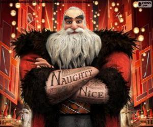 Puzle Sever, lépe známý jako Santa Clause. Postava z Legendární Parta