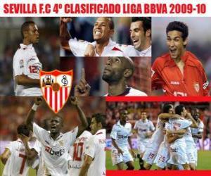 Puzle Sevilla FC 4 Utajované Liga BBVA 2009-2010