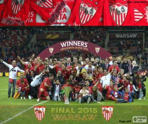Puzle Sevilla, vítěz Europa League 2014-2015