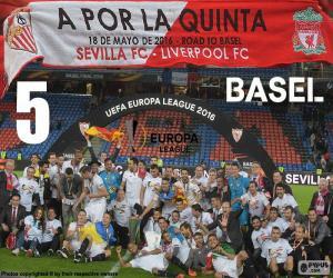 Puzle Sevilla, vítěz Europa League 2015-16
