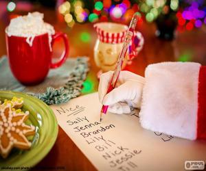 Puzle Seznam Santa Claus