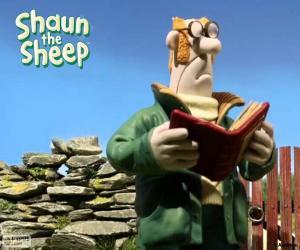 Puzle Shaun farmář