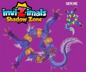 Puzle Shenlong. Invizimals Shadow Zone. Mocného ducha císaře, který se stavět Velká čínská zeď