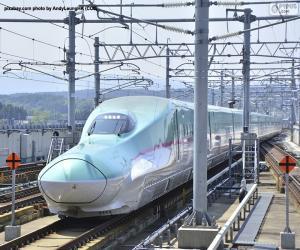 Puzle Shinkansen bullet train, Japonsko