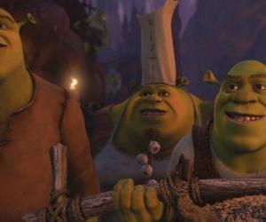 Puzle Shrek spolu s dalšími zlobři.