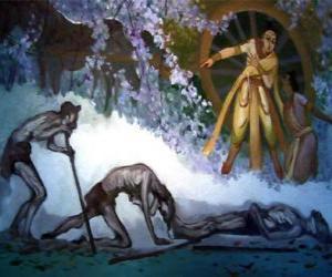 Puzle Siddharta Gautama a jeho první představu o stáří