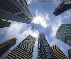 Puzle Singapurské mrakodrapy