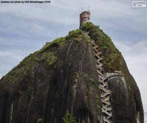 Puzle Skála Guatape nebo Kámen El Peñol